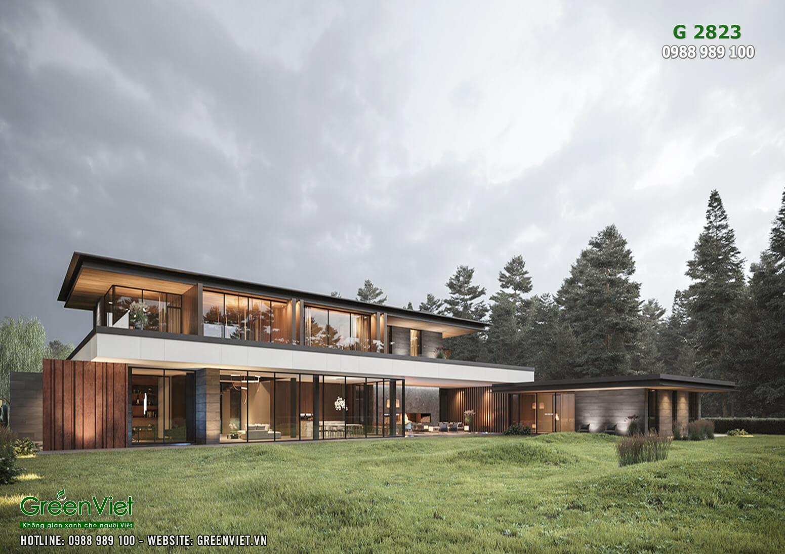 Hình ảnh: Thiết kế biệt thự hiện đại đẹp - G2823