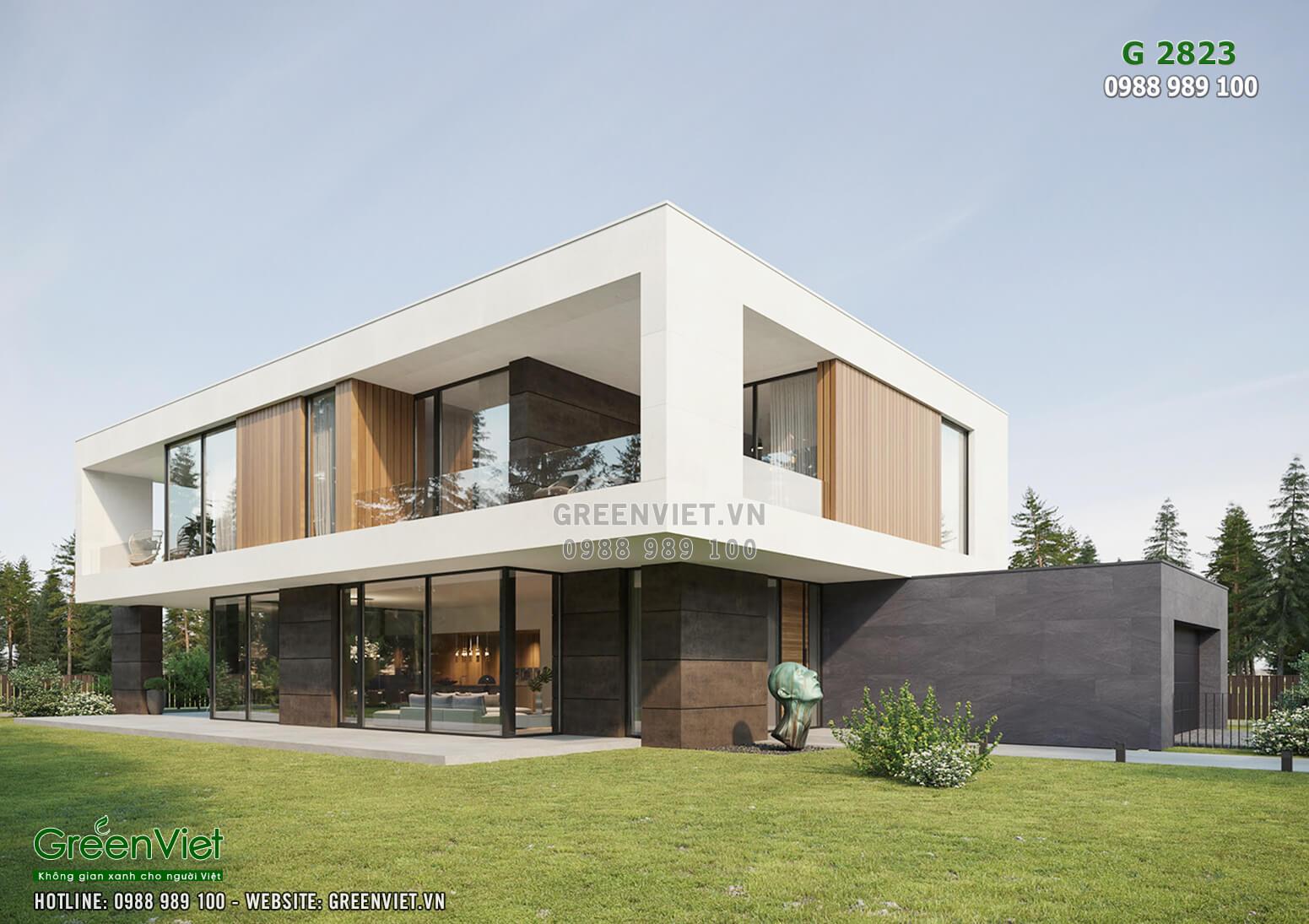 Hình ảnh: Thiết kế biệt thự đẹp hiện đại - G2823