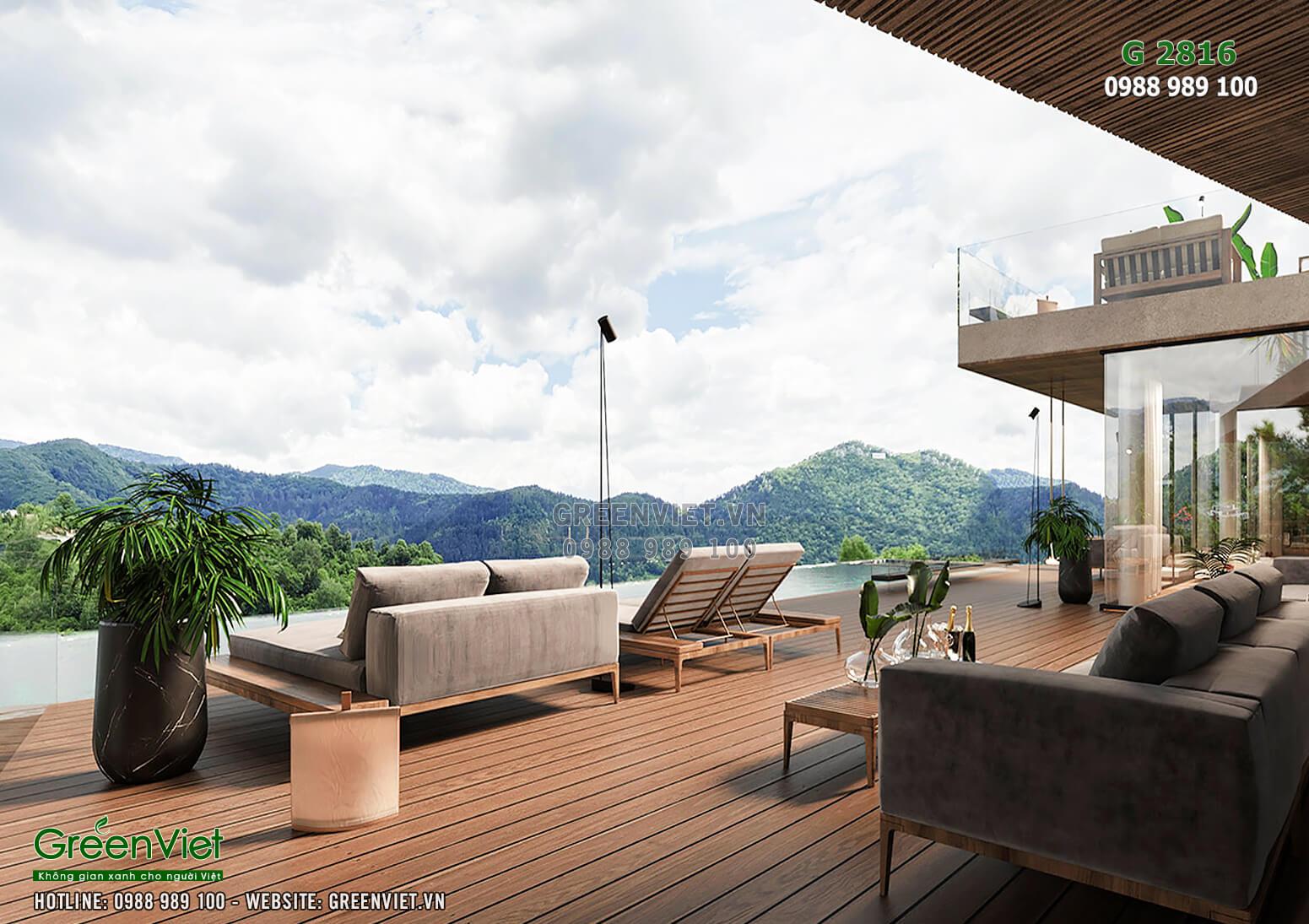 Khung cảnh thiên nhiên hùng vĩ là những gì mà ai cũng mơ ước về một kỳ nghỉ dưỡng hoàn hảo - G2816
