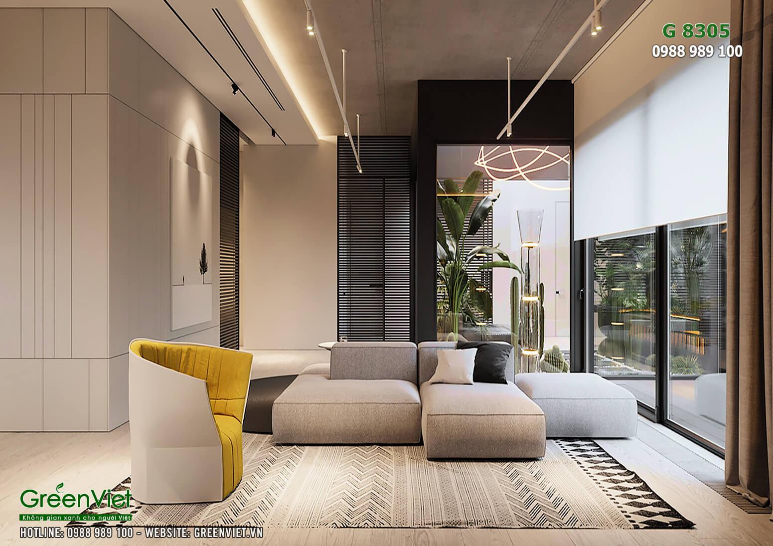 Hình ảnh: Thiết kế nội thất biệt thự hiện đại - G8305