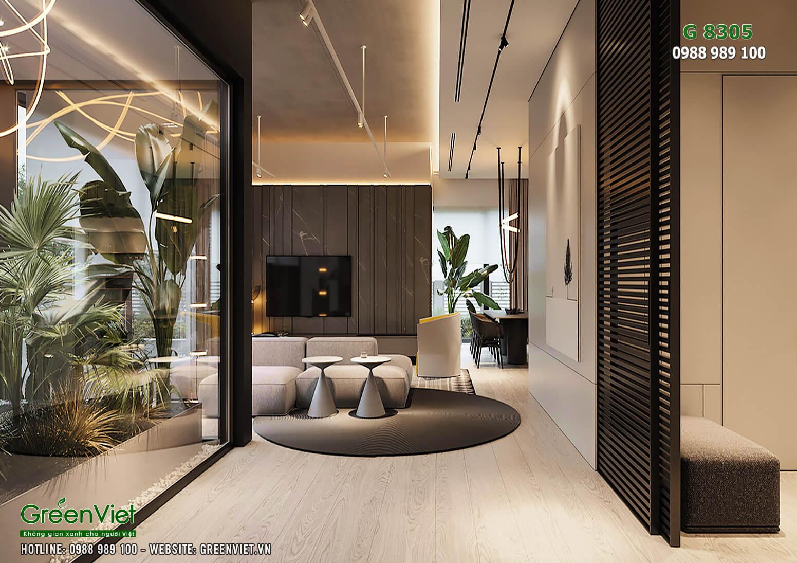 Hình ảnh: Thiết kế nội thất villa đẹp hiện đại - G8305